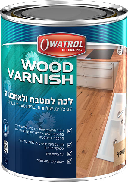 Owatrol WOOD VARNISH Kitchen And Bathroom 1L Hebrew
