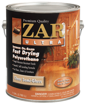 Zar Ultra interior oil base fast drying polyurethane